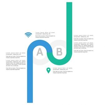 2 step cirkel infographics