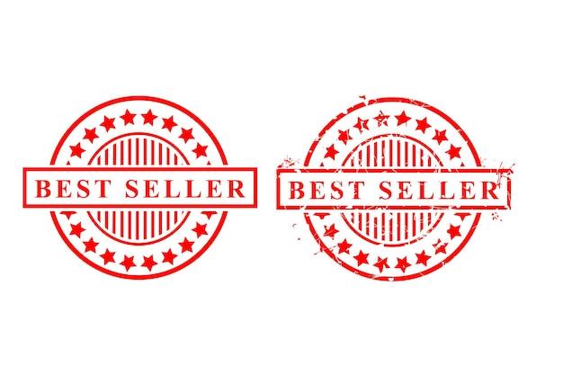 2 stijl eenvoudige vector rode roestige en schone vector rubber stempel, bestseller, geïsoleerd op wit