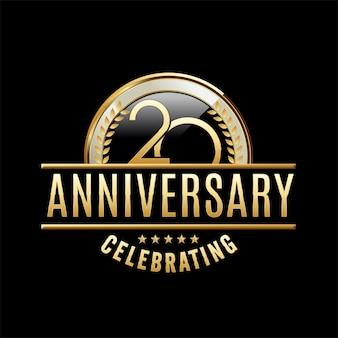 20 jaar verjaardag embleem illustratie