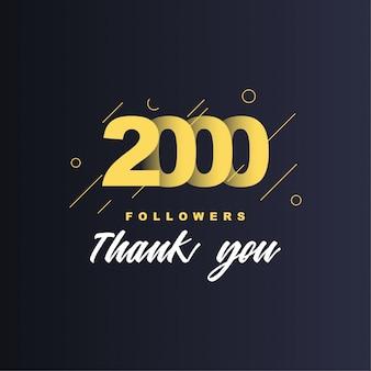 2000 volgers bedankt