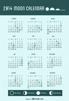 2014 calendar moon phases
