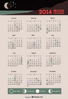 2014 maankalender maanfasen