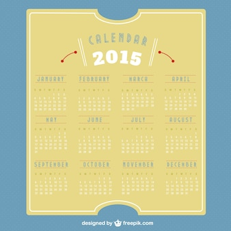 2015 retro kalender