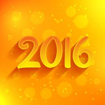 2016 in het geel bokeh achtergrond