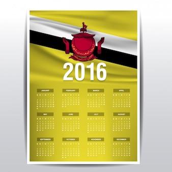 2016 kalender van brunei