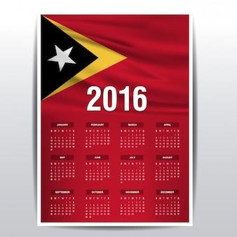2016 kalender van oost-timor