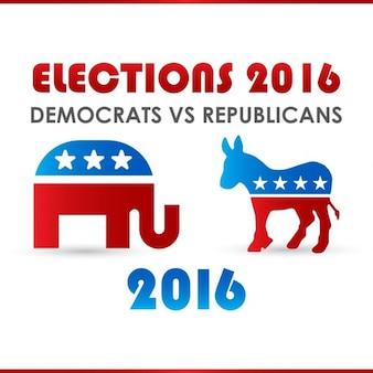 2016 vs presidentsverkiezingen poster