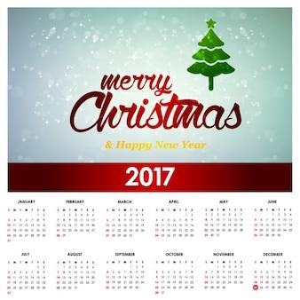 2017 vrolijk kerstfeest calender vector