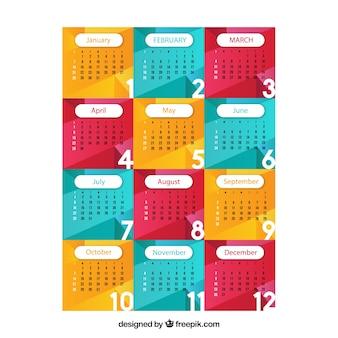 2018 kalendersjabloon