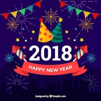 2018 partij nieuwe jaar achtergrond