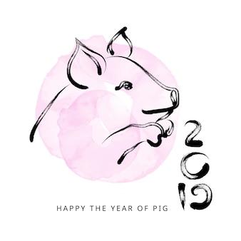 2019 chinees nieuwjaar met varken