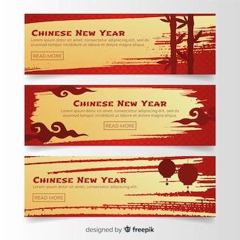 2019 chinese nieuwe jaar online banners