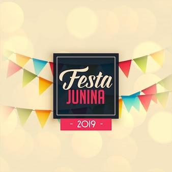 2019 festa junina-vieringsachtergrond