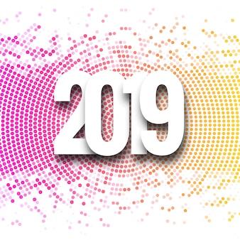 2019 gelukkig nieuwjaar achtergrond creatief ontwerp vector