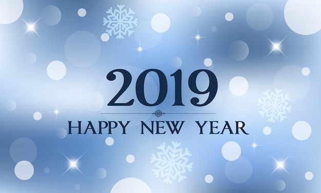 2019 gelukkig nieuwjaar belettering.
