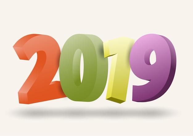 2019 gelukkig nieuwjaar feestelijke seizoen en schaduw lichten