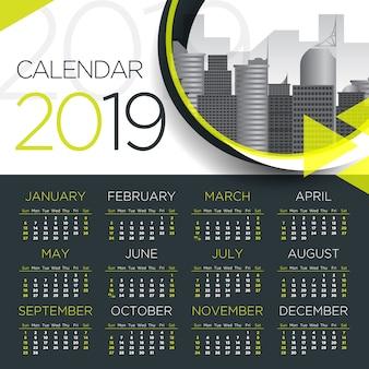 2019 internationale zakenagenda - vectormalplaatje