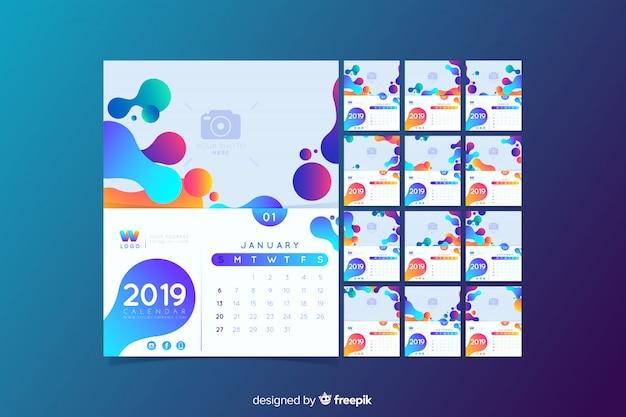 2019 kalendersjabloon