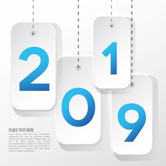2019 moderne achtergrondsjabloon