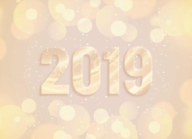 2019 nieuw jaar bokeh en lichtenachtergrond