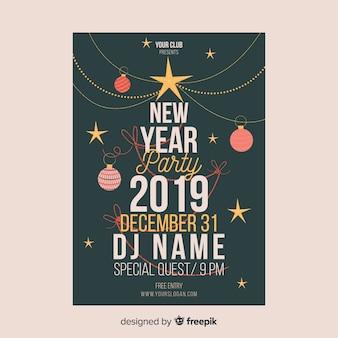 2019 nieuw jaar sjabloon voor spandoek van de partij