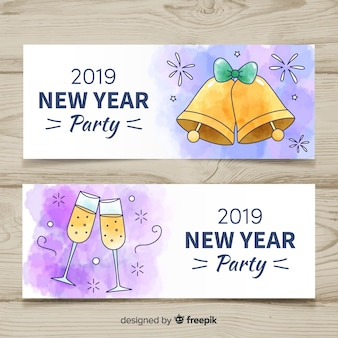 2019 nieuwe jaarfeest banners