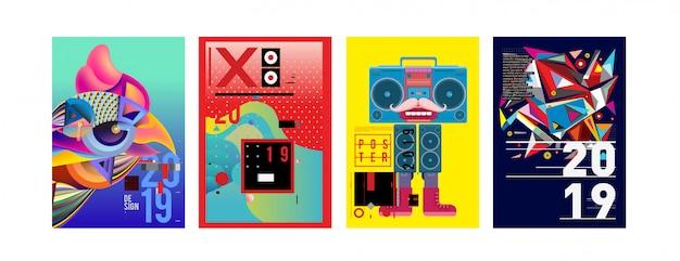 2019 nieuwe ontwerpsjabloon voor posters en omslagen