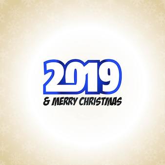 2019 nieuwjaar typografische ontwerpvector