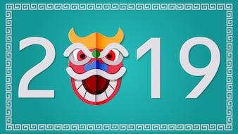 2019-nummer voor Chinese nieuwjaarswensen