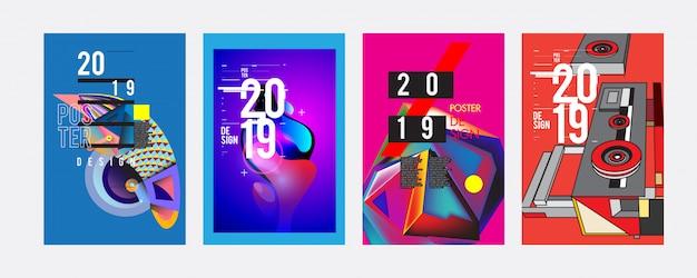 2019 poster ontwerpsjabloon