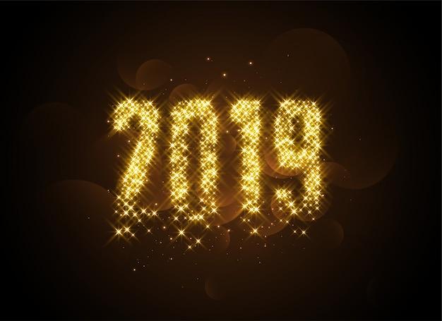 2019 schrijver in gouden gloeiende sparren