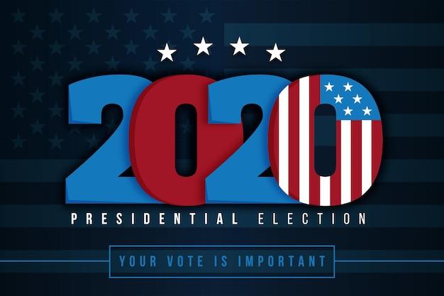 2020 amerikaanse presidentsverkiezingen achtergrond Gratis Vector