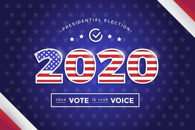 2020 amerikaanse presidentsverkiezingen achtergrond