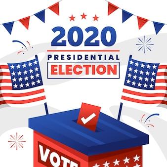 2020 amerikaanse presidentsverkiezingen concept Premium Vector