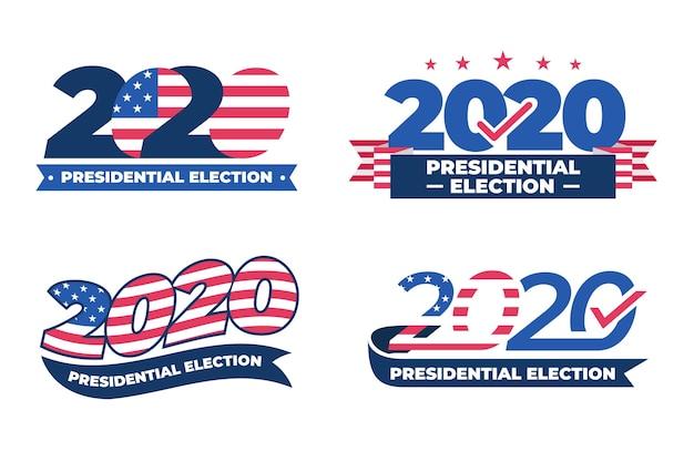 2020 amerikaanse presidentsverkiezingen logo's collectie