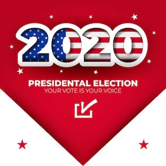 2020 amerikaanse verkiezingsbanner