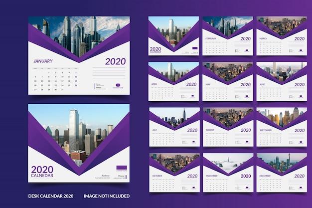 2020 bureaukalender sjabloon