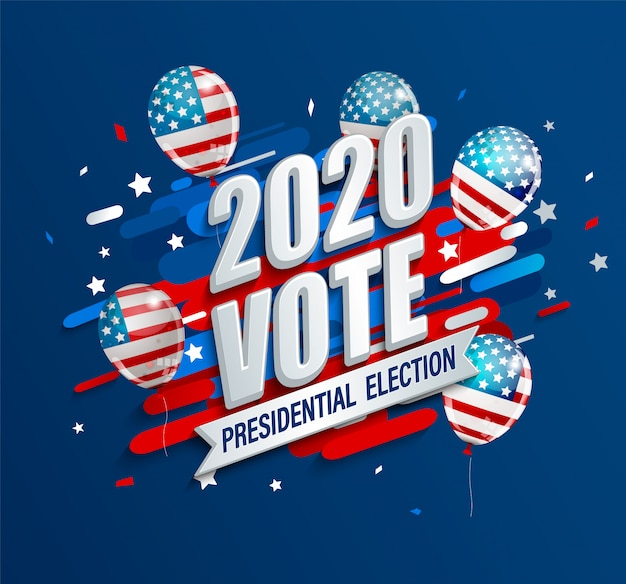 2020 dynamische banner van de amerikaanse presidentsverkiezingen.