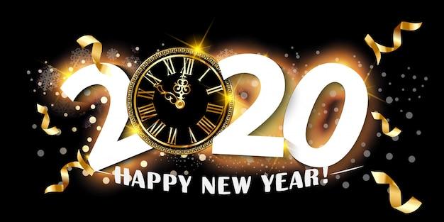 2020 gelukkig nieuwjaar achtergrond.