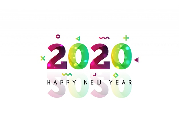 2020 gelukkig nieuwjaar achtergrond