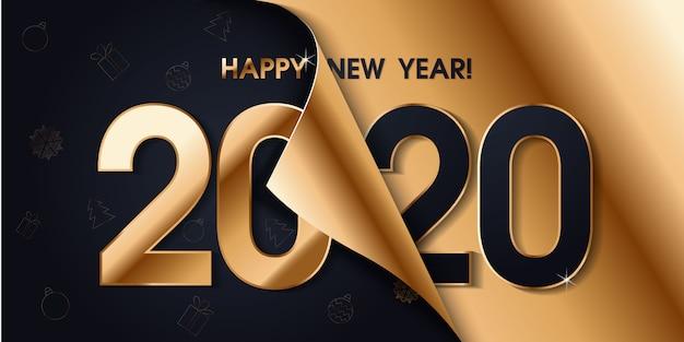 2020 gelukkig nieuwjaar banner