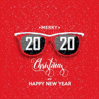2020 gelukkig nieuwjaar en vrolijk kerstfeest