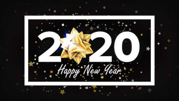2020 gelukkig nieuwjaar vakantie elegante banner
