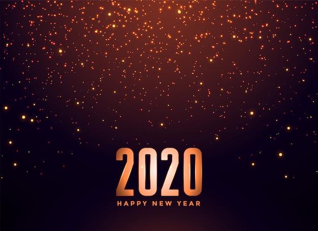 2020 gelukkig nieuwjaar vallende sparkles achtergrond