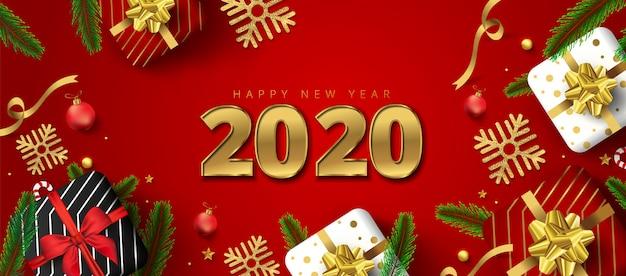 2020 gelukkig nieuwjaar wenskaart