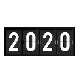 2020 jaarnummers op flipbord