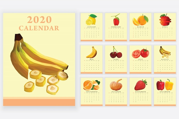 2020 kalender groenten en fruit thema
