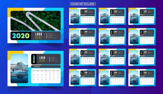 2020 kalender met afbeeldingen