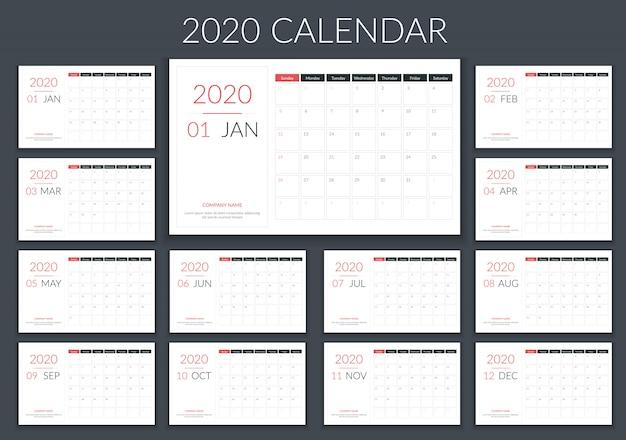 2020 kalenderplanner