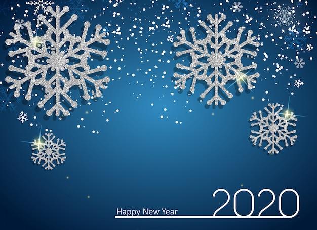 2020 nieuwjaar en merry christmas-achtergrond